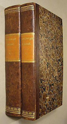 LORENZ FRIES: WÜRZBURGER CHRONIK, 1848/49, 2 Vol., Halbleder illustriert, EA!