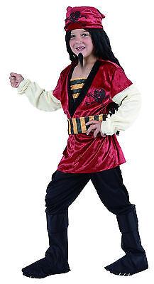 Jungen Kostüm Roter Pirat Piratenkostüm Seeräuber Freibeuter 4 bis 12 Jahre