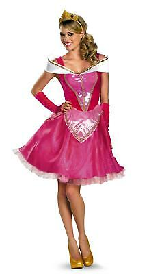 Aurora Fab Sexy Disney Princess Sleeping Beauty Dress Deluxe Costume Medium 8-10 (Disney Sleeping Beauty Adult Costume)