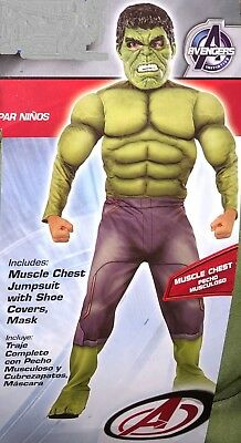 Avengers 2 Age of Ultron Deluxe Hulk Costume PLUS BONUS Size 8-10 Marvel - Avengers 2 Deluxe Hulk Kostüm