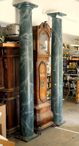 Tall faux marble wooden columns (pillers)