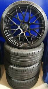 """STAGGERED 19"""" WHEEL & TYRE PACKAGE - OX & ALTENZO Nunawading Whitehorse Area Preview"""