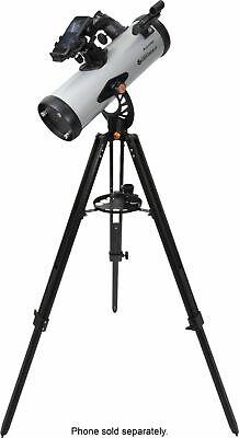 Celestron - StarSense Explorer 114mm Newtonian Reflector Telescope - Silver/B...