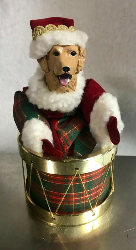 Golden Retriever Christmas Music Box Decoration