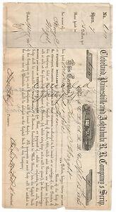 1856-Stock-Scrip-Cleveland-Painesville-Astabula-Railroad-Company