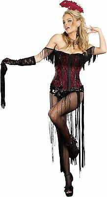 Burlesque Beauty Adult Womens Costume Showgirl Sequin Skirt Halloween