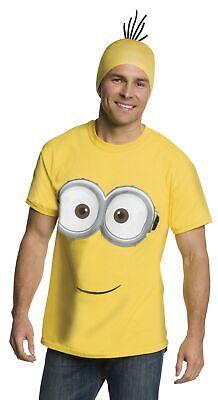 Despicable Me Minion  Adult T-Shirt Hat Men Women Minions Costume Kit LG-XL - Adult Minions Costume