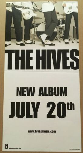 THE HIVES Rare 2004 PROMO POSTER w/ RELEASE DATE for Tyrannosaurus CD 12x24 USA