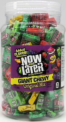 Now and Later Soft Giant Candy Tub Assorted Flavors Free Shipping Bulk 120 ct