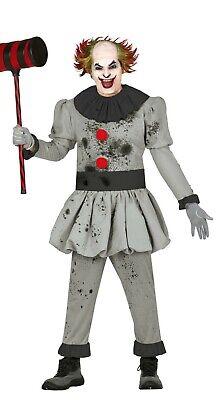 Herren Pennywise Kostüm Clown Scary It Killer Halloween Horror Kostüm - Scary Killer Clown Kostüm