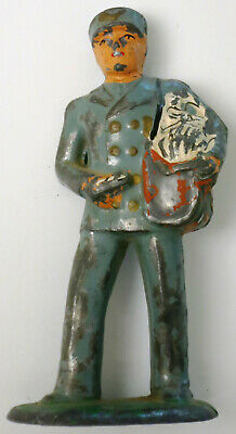1930s Handbags and Purses Fashion Cast Iron Figurine MAILMAN Metal Toy Letter Carrier with Bag Vintage 1930's-40's $4.99 AT vintagedancer.com