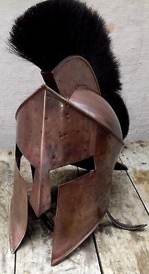 300 Costume Helmet (300 King Leonidas Spartan head Helmet Warrior Costume Helmet Medieval Style Gift )