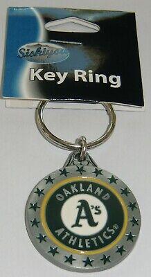 Oakland Athletics A's 3-D Metal Key Chain MLB Licensed Baseball - Oakland Athletics Metal