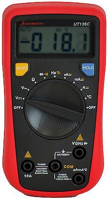 Sinometer Ut136c Multimeter Temp Frequency Resistance