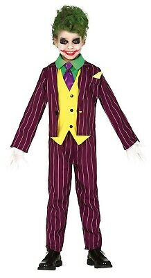 Boys Joker Costume Assassin Kids Halloween Fancy Dress Killer Jester Villain](Joker Costume For Boys)