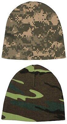 Camo Crib Cap Infant Beanie Baby Hat Cotton Military Army Digital Woodland Camo