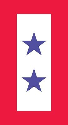 TWO 2 BLUE STAR MOTHER'S SERVICE FLAG VINYL DECAL son daught