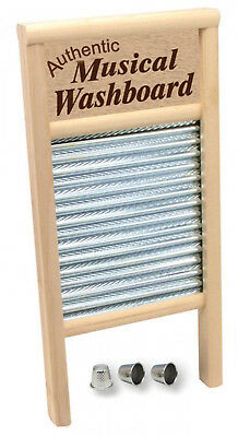 Trophy Musical Washboard with three thimbles - Skiffle and Country / Folk Music
