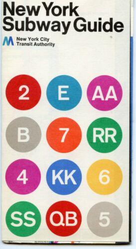 1972 NYC New York Subway Map MINT Massimo Vignelli MoMA Museum of Modern Art