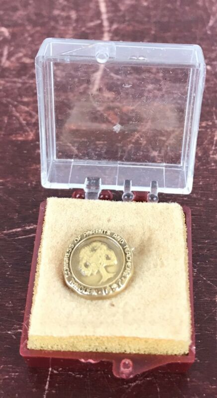 Vintage National Congress of Parents and Teachers 1897 Pin In Box
