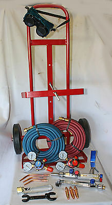 Parweld / Weldcraft Oxy / Acetylene Gas Welding / Cutting Set  Portapack Trolley