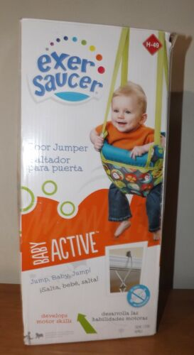 Evenflo ExerSaucer Infant Doorway Jumper Portable Door Baby Bouncer in Box