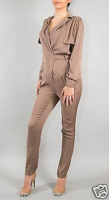 Gucci Runway Gray-brown Silk-jersey jumpsuit size 38