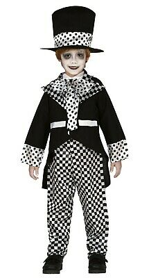 Batman And Joker Halloween Costumes (Kids Mad Hatter Costume Joker Fancy Dress Clown Outfit Black and White Age)