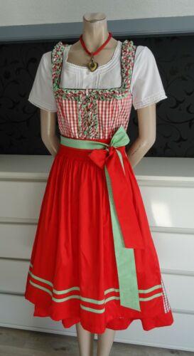Authentic Dirndl German Austrian  Dress Blouse Apron 8
