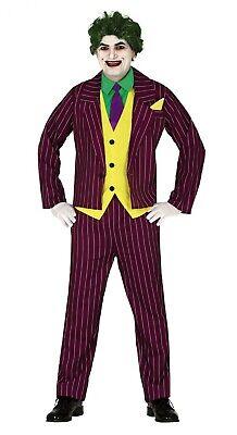 Herren Joker Kostüm Assassin Erwachsene Halloween Hofnarr Killer - Herren Bösewicht Kostüme