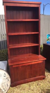 Pine wood book shelve with storage box