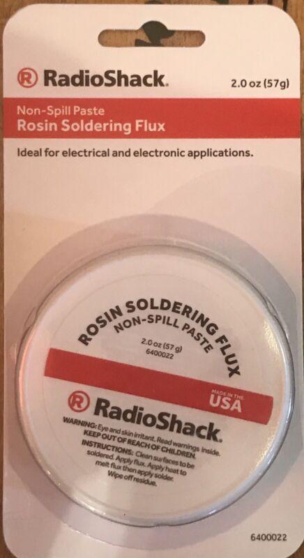 Radioshack Rosin Soldering Flux (2) Oz Paste #6400022 / USPS 1st class Shipping!