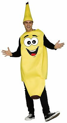 Funny Banana Adult Unisex Costume Fruit Food Foodie Yellow Tunic & Hat - Adult Fruit Costume