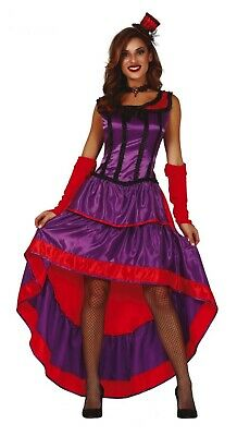 Show Girl Outfits (Purple Can Can Fancy Dress Saloon Show Girl Costume Burlesque Wild West)