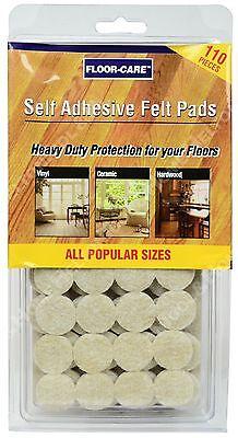 Floor Care 110 Heavy Duty Felt Pads Floor Protection for Tile Vinyl Hardwood New