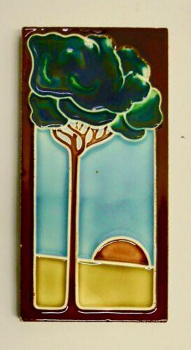 Vintage Art Nouveau Tile with Tree Arts & Crafts
