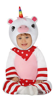 Baby Einhorn - Kostüm für Mädchen Größe 74-92 - Einhorn Jumpsuit Kinder Kleinkin