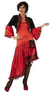 Spanish Woman Costume (Spanish Dancer Red Senorita Adult Halloween Costume)