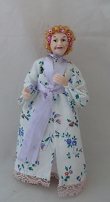 Dolls House Miniature Lady With Curlers 1-12TH Scale