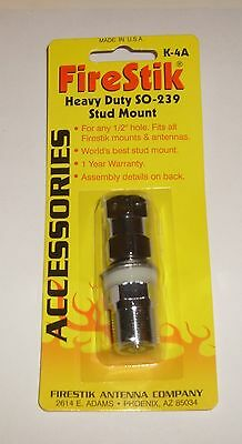 Firestik K-4A Heavy Duty SO-239 Stud for CB Radio Antenna Mount - Retail Package