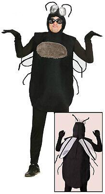 Dicker Brummer Fliege Moskito Herren Kostüm schwarz Fliegenkostüm Halloween