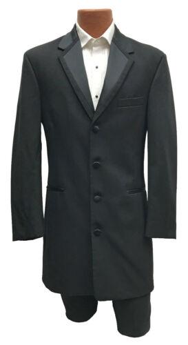 Boys Size 8 Black Perry Ellis Vail Tuxedo Frock Coat Long Jacket Western Duster