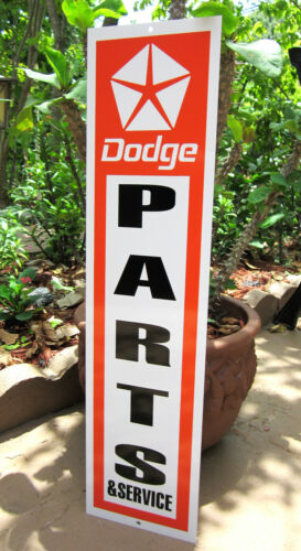 DODGE PARTS AND SEVICE SIGN CHARGER CHALLENGER DAYTONA CORONET SUPERBEE