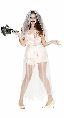 Womens Zombie Undead Bride Halloween Fancy Dress Costume - Womens Zombie Halloween Kostüme