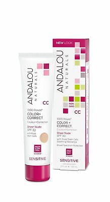 Andalou Naturals 1000 Roses CC Color + Correct Sheer Nude SP