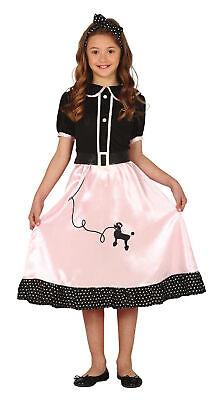 50er Jahre Rockabilly Kleid für Mädchen - Größe 110-146 - Fasching Karneval