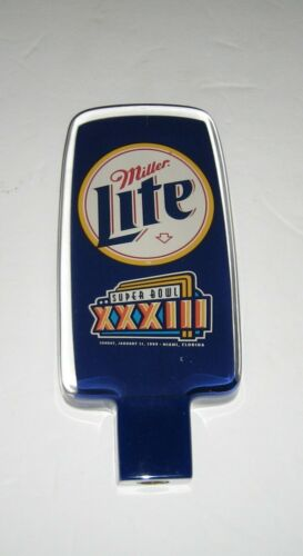MILLER LITE SUPER BOWL 33 beer tap handle  *NEW*