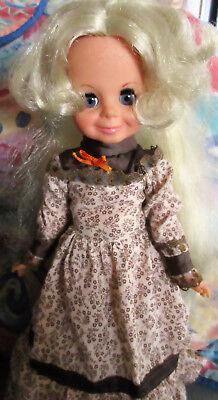 """Vintage Ideal Crissy 16"""" blond hair doll with talking mechanism"""