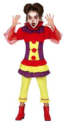 Clown Kostüm mit Tutu für Mädchen - Größe 110-146 - Fasching Karneval Halloween