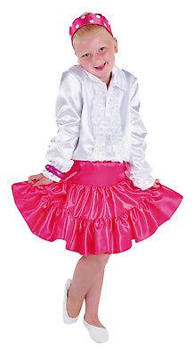 Rock Kostüm Kleid Kinder Cow Girl Spanierin Flamenco Saloon Unterrock Petticoat ()